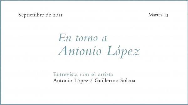 Ciclo de conferencias En torno a Antonio López