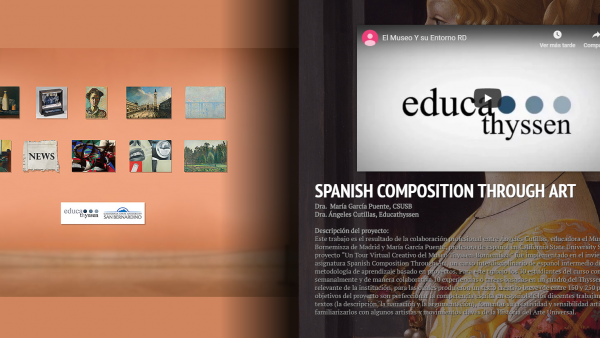 Spanish composition through art