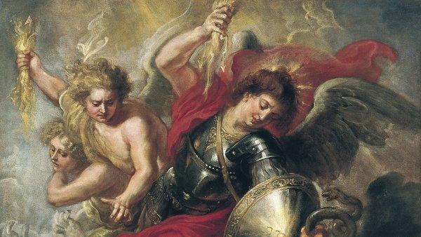 San Miguel expulsando a Lucifer y a los ángeles rebeldes. Peter Paul (taller de) Rubens