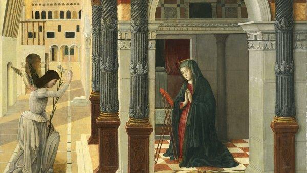 La Anunciación. Gentile Bellini