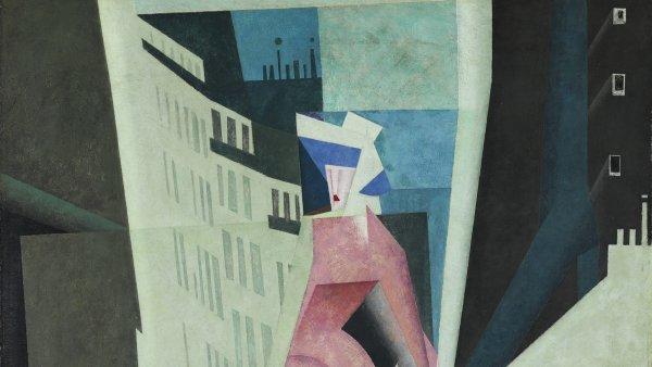 La dama de malva. Lyonel Feininger