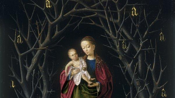 La Virgen del árbol seco. Petrus Christus