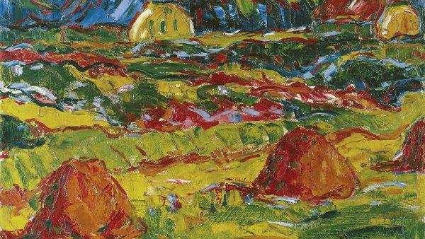Paisaje de otoño en Oldenburg. Karl (Karl Schmidt) Schmidt-rottluff