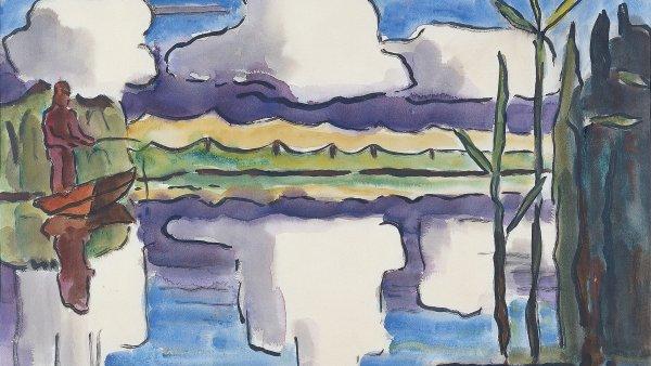 Reflejo de nubes. Karl (Karl Schmidt) Schmidt-rottluff
