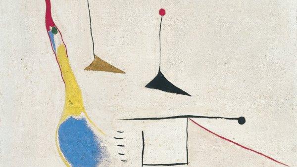 Pintura sobre fondo blanco. Joan Miró