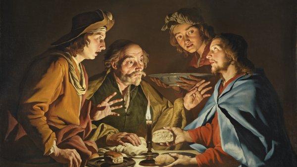 La Cena de Emaús. Matthias Stom