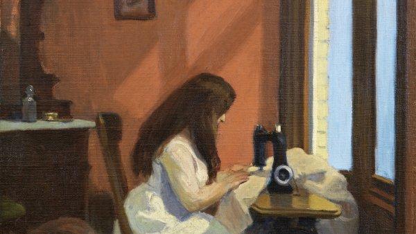 Muchacha cosiendo a máquina. Edward Hopper