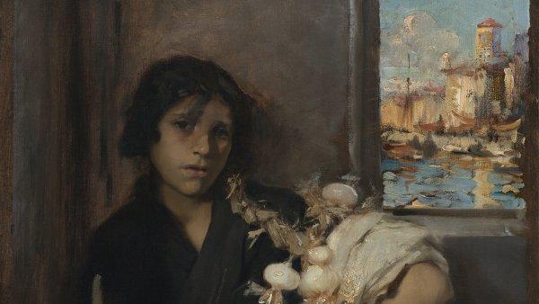 Vendedora veneciana de cebollas. John Singer Sargent