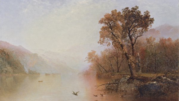 El lago George. John Frederick Kensett