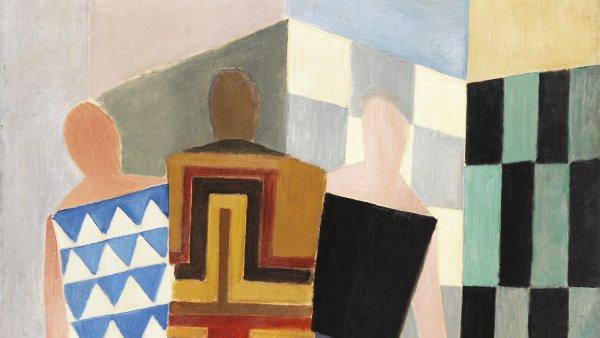 Vestidos simultáneos. (Tres mujeres, formas, colores). Sonia Delaunay
