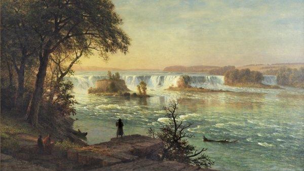 Las cataratas de San Antonio. Albert Bierstadt