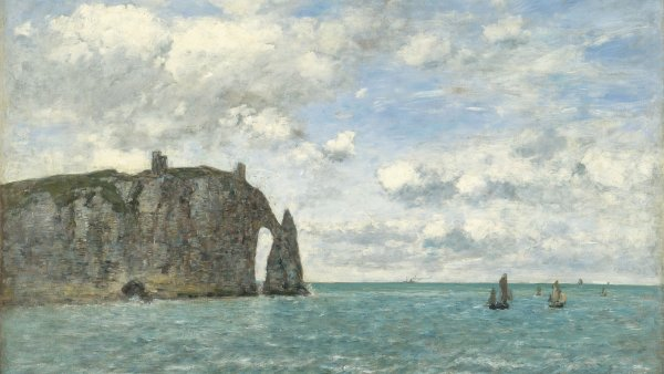 Étretat. El acantilado de Aval. Eugène Boudin