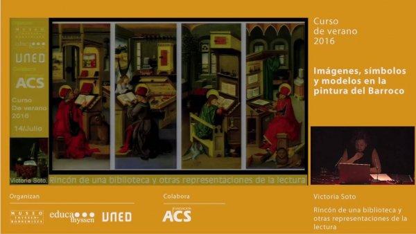 Rincón de una biblioteca y otras representaciones de la lectura / Conferencia de Victoria Soto